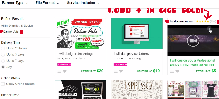 how much can you make selling on fiverr?
