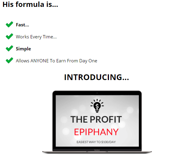 The Profit Epiphany Review
